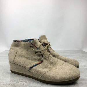 Toms Canvas Wedges